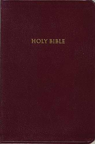 9780840705785: KJV, Classic End-Of-Verse Reference Bible, Personal Size, Giant Print, Bonded Leather, Burgundy, Indexed, Red Letter Edition