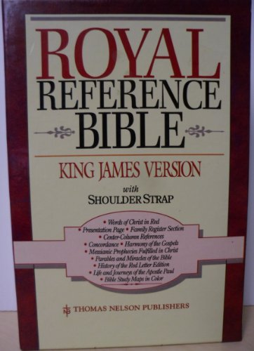 Holy Bible: Royal Reference, Shoulder Strap Style, Burgundy Bonded Leather