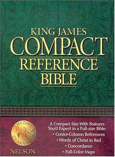 9780840707635: King James Compact Reference Bible: Burgundy Bonded Leather