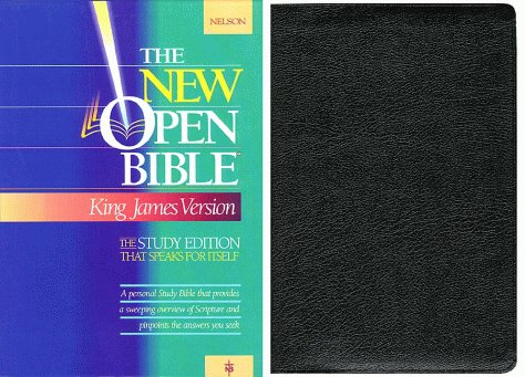 9780840707901: Holy Bible: The New Open Bible, Study Edition, King James Version, Black Genuine Leather