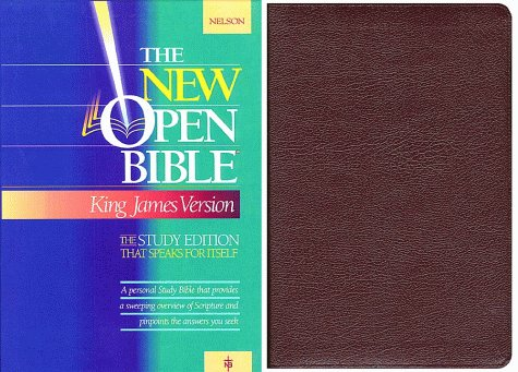 Holy Bible: The New Open Bible, Study Edition, King James Version, Burgundy Genuine Leather