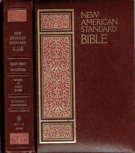 9780840710611: Holy Bible: New American Standard Giant Print Reference, Brown Bobded Leather, No.534Br