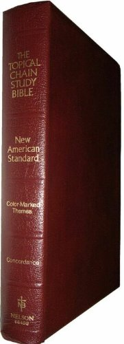 9780840711298: Topical Chain Study Bible: New American Standard, Burgundy Bonded Leather, No. 964Bg