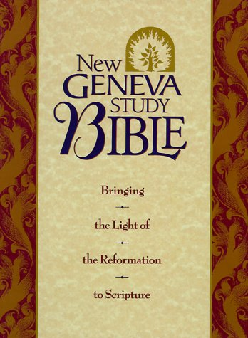 9780840711472: Holy Bible: New Geneva Study Bible, New King James Version, Black Genuine Leather (Style No 2996/Black)