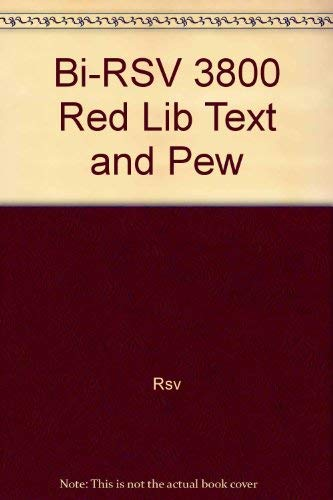 9780840714398: Bi-RSV 3800 Red Lib Text and Pew