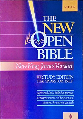 9780840715081: Holy Bible: New Open Bible : New King James Version (1455Bg Burgundy Bonded Leather)
