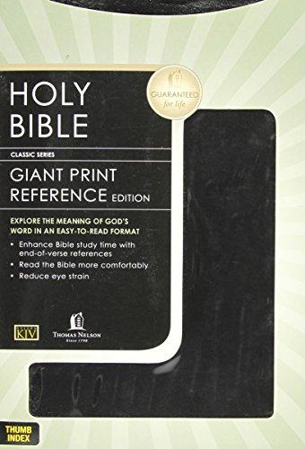 9780840717368: KJV GIANT PRINT REFERENCE BIBLE - BLACK LEATHERFLEX - INDEXED