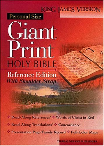 Personal Size Giant Print Shoulder Strap Bible Kjv Reference Edition (9780840717856) by [???]