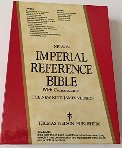 9780840728166: Nelson Imperial Reference Bible with Concordance the New King James Version 446BR Brown