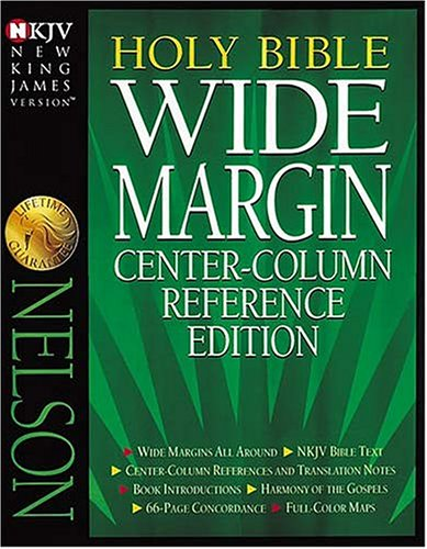 9780840728906: New King James Wide Margin Reference Bible: Black