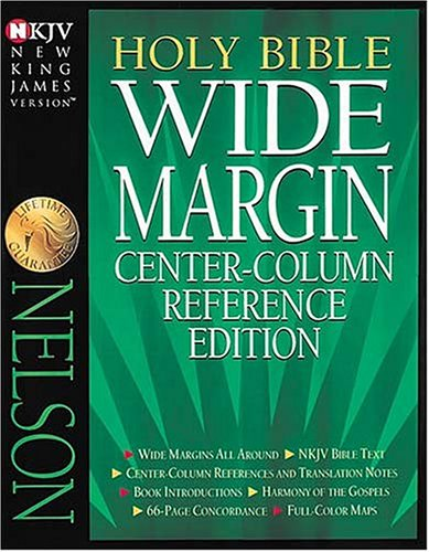9780840728944: Holy Bible Wide Margin Center-Column Reference Edition: New King James Version : Burgundy/Genuine Leather/Gilded-Gold Page Edges