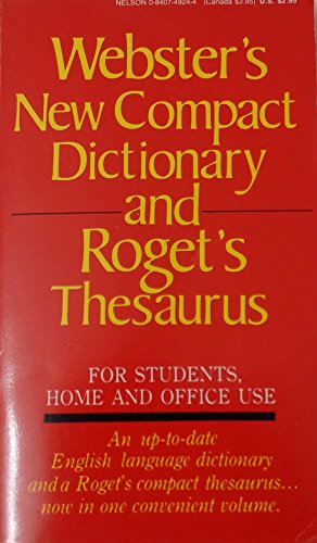 9780840749246: Webster's New Compact Dictionary and Roget's Thesaurus