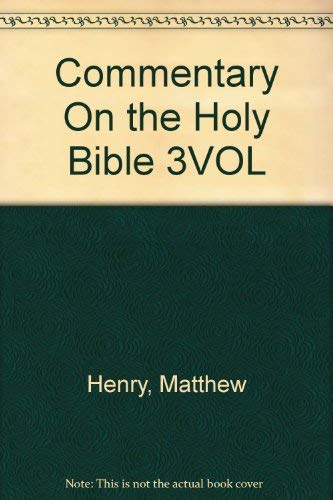 9780840751690: Commentary On the Holy Bible 3VOL