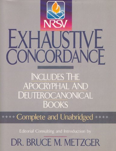9780840768001: Exhaustive Concordance: New Revised Standard Version
