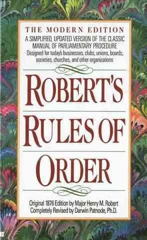 9780840771995: Robert's Rules of Order