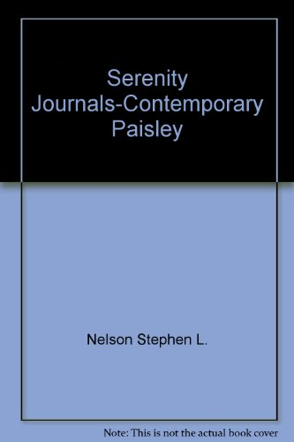 Serenity Journals-Contemporary Paisley: Nelson, Stephen L.