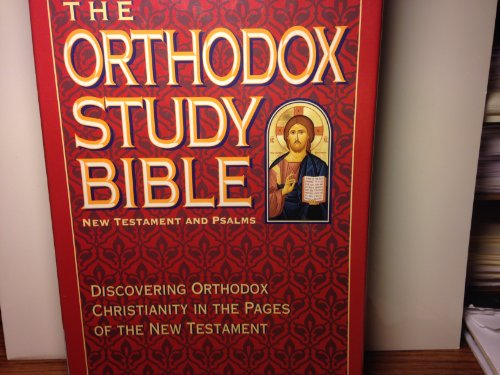 9780840783950: Bible New King James Version Orthodox Study New Testament and Psalms Genuine Leather Index Black