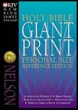 9780840785343: The Nelson Classic Giant Print Center-Column Reference Bible : New King James Version/Black Bonded Leather/Thumb Indexed/893