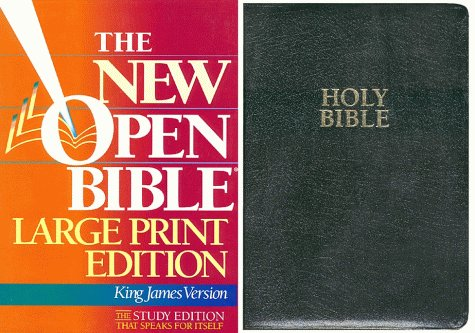 9780840785978: Holy Bible the New Open Bible: King James Version, Large Print, Black Bonded Leather