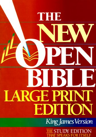 9780840785985: Holy Bible the New Open Bible: King James Version, Large Print, Indexed, Black Bonded Leather