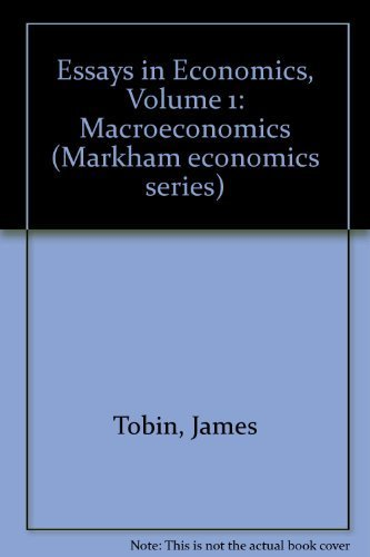 essays economics volume macroeconomics by james tobin abebooks essays in economics volume 1 macroeconomics tobin james