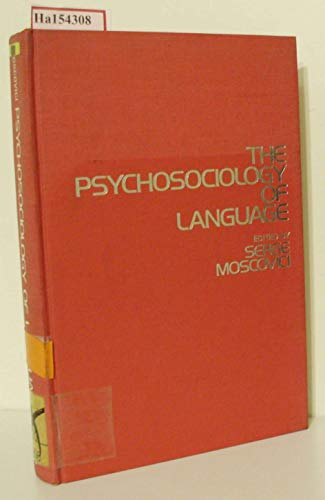 9780841050051: The Psychosociology of Language