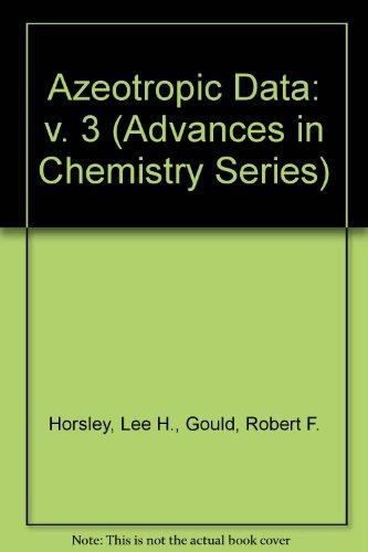 9780841201668: Azeotropic Data-III (Advances in Chemistry Series 116)