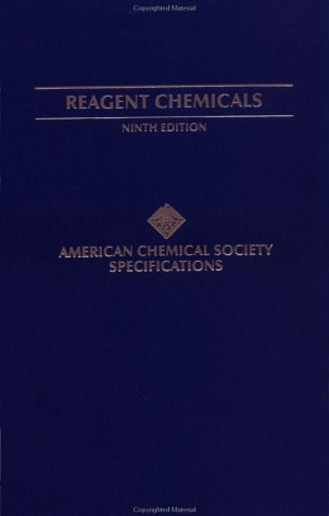 9780841236714: Reagent Chemicals: American Chemical Society Specifications, Official from January 1, 2000 (American Chemical Society, Committee on Analytical ... American Chemical Society Specifications)