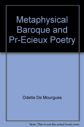 9780841418509: Metaphysical baroque & precieux poetry