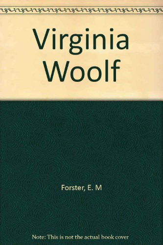 Virginia Woolf (0841443149) by E. M Forster