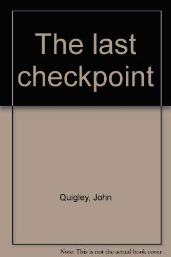 9780841501089: The last checkpoint