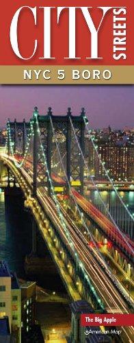 9780841614376: City Streets NYC 5 Boro Street Map