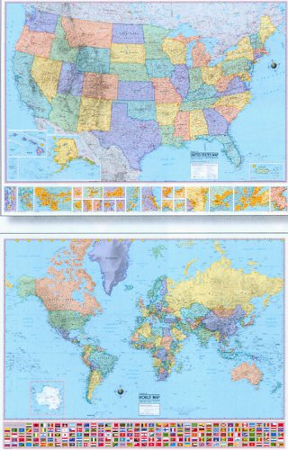 9780841621701: U.S./World 2 for 1 Map (Economy Line Wall Maps United States and World 2 for 1)