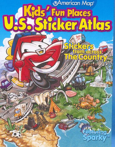 9780841625235: Kids' Fun Places U.S. Sticker Atlas: Stickers from Across the Country [With Stickers] (American Map)
