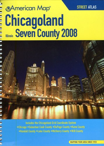 9780841627178: American Map 2008 Chicagoland Seven County Atlas