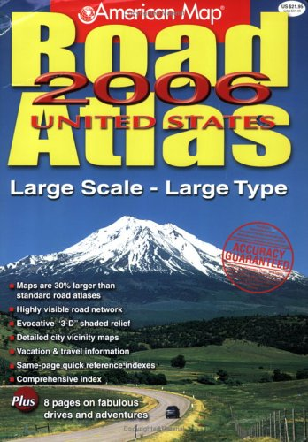 9780841628014: American Map 2006 United States Road Atlas: Large Scale-Large Type (American Map Road Atlas)