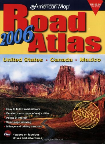 9780841628021: American Map Road Atlas 2006: United States, Canada, Mexico (AMC Maps & Atlases)