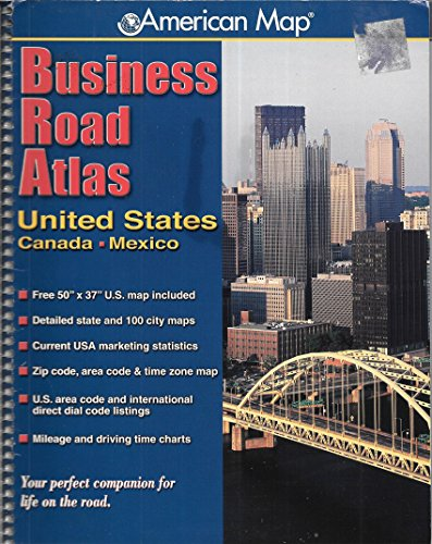 American Map Business Road Atlas, United States, Canada, Mexico: American Map Staff, MapQuest