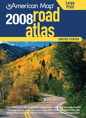 9780841628342: American Map 2008 United States Road Atlas (American Map Road Atlas)