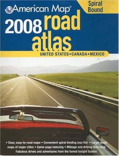 9780841628359: American Map 2008 United States Road Atlas Midsize