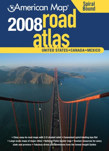 9780841628373: American Map 2008 United States Road Atlas: United States, Canada, Mexico