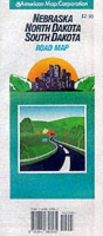 9780841650565: Nebraska North Dakota South Dakota: Road Map (Travelvision State Maps)