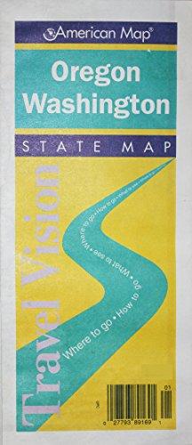 9780841650725: Oregon/Washington (Travelvision State Maps)
