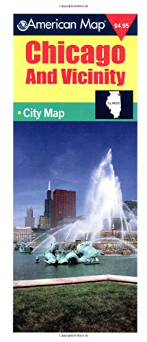 9780841654334: American Map Chicago and Vicinity: City Map (Travel Vision)