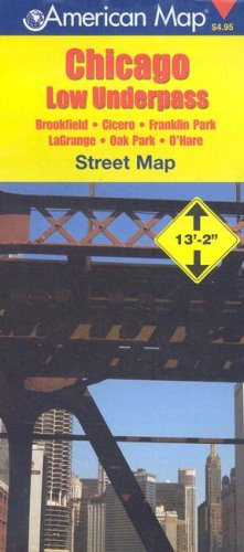 9780841656307: Chicago Il Low Underpass Map: Pocket (American Map)