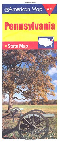 9780841690769: American Map Pennsylvania State Map (Travel Vision)
