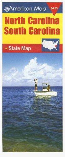 9780841691049: American Map North Carolina & South Carolina State Map