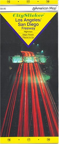 Los Angeles/San Diego Freeway, Ca Slicker (Laminated Folding Maps)