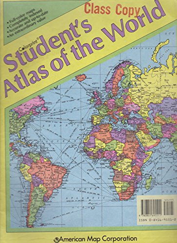 American Map Company Inc.Colorprint Student S Atlas Of The World With Detailed Glossary And