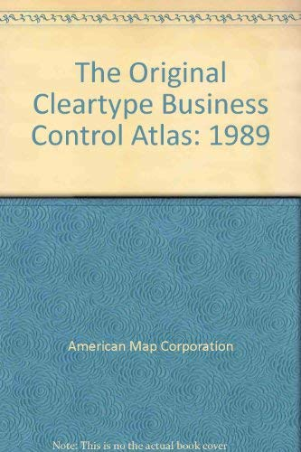 The Original Cleartype Business Control Atlas: American Map Corporation,